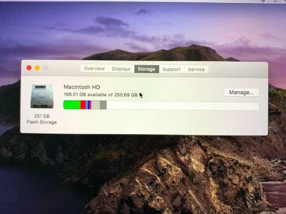 macbook storage checks